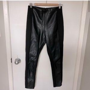 Ivanka Trump high rise black faux leather pants
